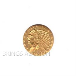 $2.5 Indian Almost Uncirculated Early Gold Bullion