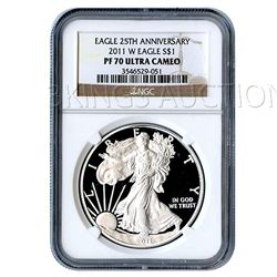 Certified Proof Silver Eagle PF70 2011