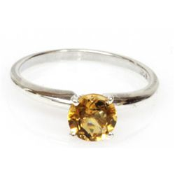 Natural 1.5ctw Citrine .925 Sterling Silver Ring