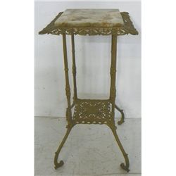 Victorian onyx top brass stand