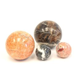 4 marble ball ornaments