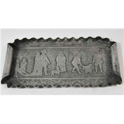 Reed & Barton silver plated etched small tray