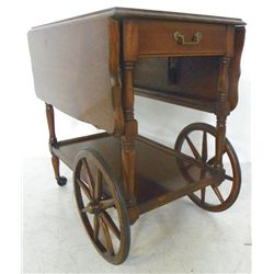 Cherrywood tea cart with drop sides