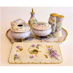 Limoges vanity set including platter