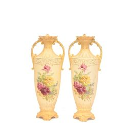 "Pair Austrian ""Royal Wettina"" vases"