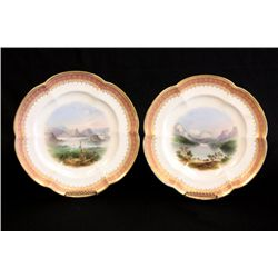 "Pair decorative scenic plates ""Lake of Lucerne"""