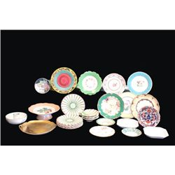 Group lot of Italian & French plates - 42 total
