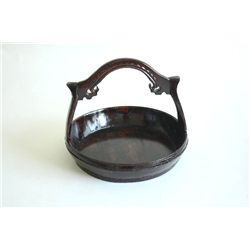 19th c. wooden carving basket