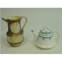 Royal Worcester teapot & Fischer  pitcher