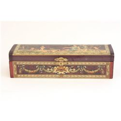 Victorian decoupage classical design glove box