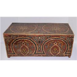 Old polychromed wood Indian box