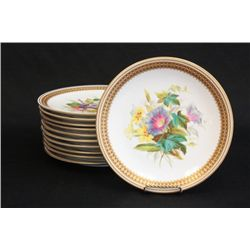 Royal Worcester hand painted luncheon plates