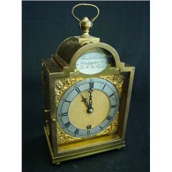 Brass carriage clock by Charles Frodsham