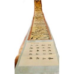 Magnificent Chinese scroll painting silk paper