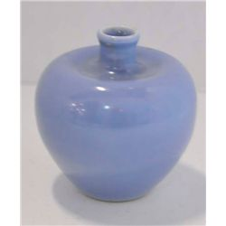 Sky blue Clair-De-Lune glazed vase