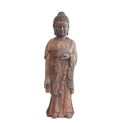 Chinese wood carved Sakyamuni Buddha