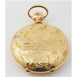 Gold plated pocket watch
