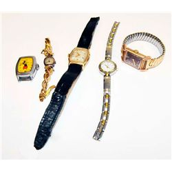 Group lot of 5 vintage wristwatches