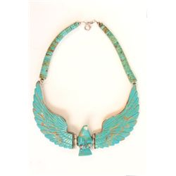 Sterling silver & turquoise unusual necklace