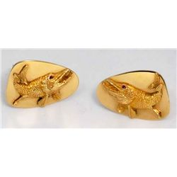 14kt yellow gold Tiffany & Co. men's cufflinks