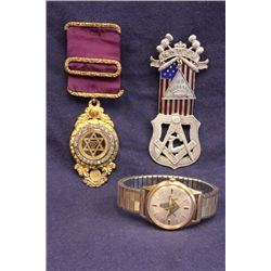 Masons jewelry 3 piece lot