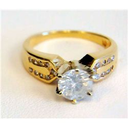 14kt gold & diamond engagement ring
