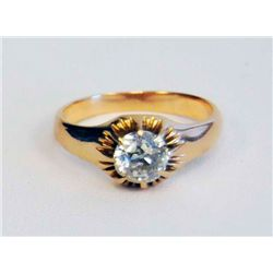 14kt yellow gold & diamond ring