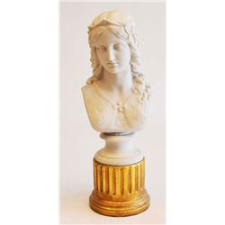 "Copeland porcelain ""Bust of Female"" Enid"