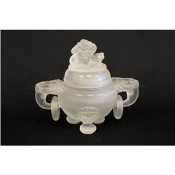 Exceptional carved crystal censer