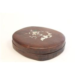 Chinese inkstone box & cover