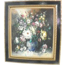 Oil painting signed R. Morro