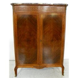 Louis XVI marble top fitted chest