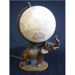 "Cold patinated white metal ""Elephant"" lamp"
