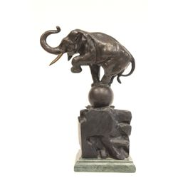 "Early 20th c. bronze ""Elephant"" signed A. Barye"