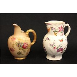 2 Royal Worcester pitchers