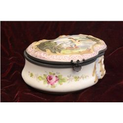 19th c. Sevres porcelain scenic box