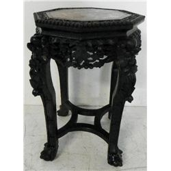Marble top teakwood table