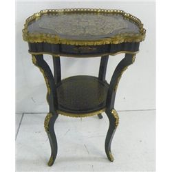 French 19th c. bronze mounted two tier table