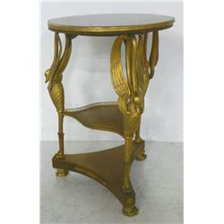 "Empire style ""Swan"" carved gueridon table"