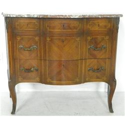 French marble top commode