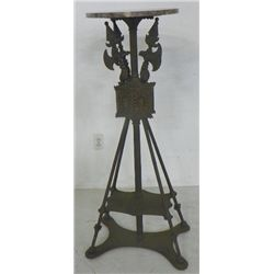 Iron & marble top stand with sword base