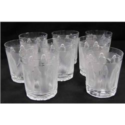 Set of 8 Lalique whiskey tumblers