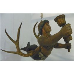 "Wood carving ""Mermaid with Antlers"""