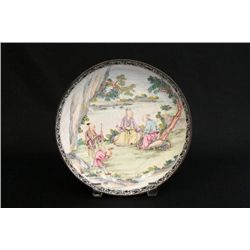 Antique Chinese enamel plate