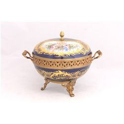 Mid century Sevres covered compote