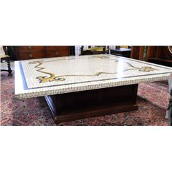 Artisan designed mosaic top coffee table