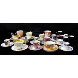 Group lot of 9 cups & saucers