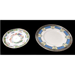 Limoges & Lenox dishes in frames