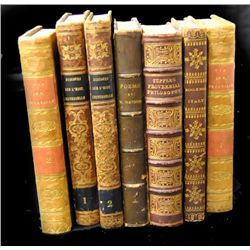 Lot of 7 leather bound books