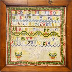 Antique American sampler signed Mary Gibson